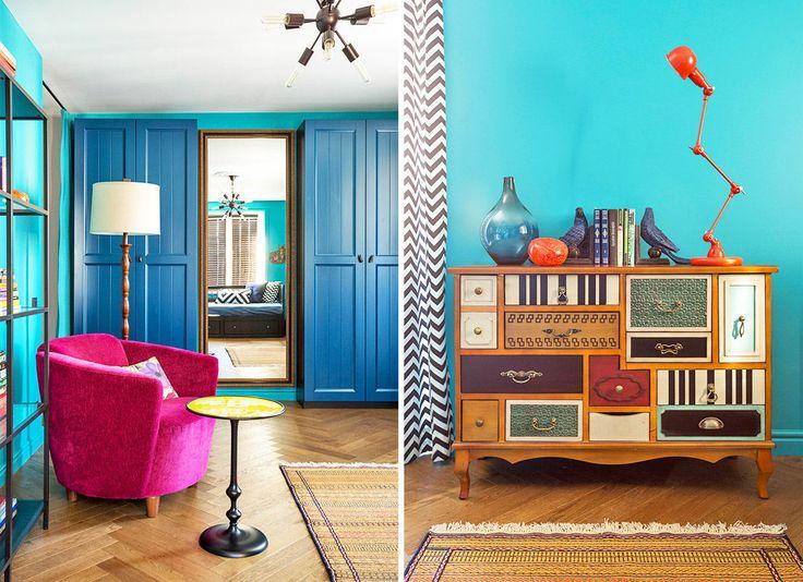 Смелые оттенки и сочетания, необычные предметы мебели, которые соревнуются за ваше внимание — дизайнеры Ирина Лаврентьева и Анастасия Каменских превратили однокомнатную квартиру в масштабный арт-объект. Этот проект авторы создавали для девушки – юриста крупной иностранной компании. Она живет здесь с двумя собачками породы вест-хайленд-уайт-терьер. Как любящая и активная хозяйка, она участвует с ними в выставках, …