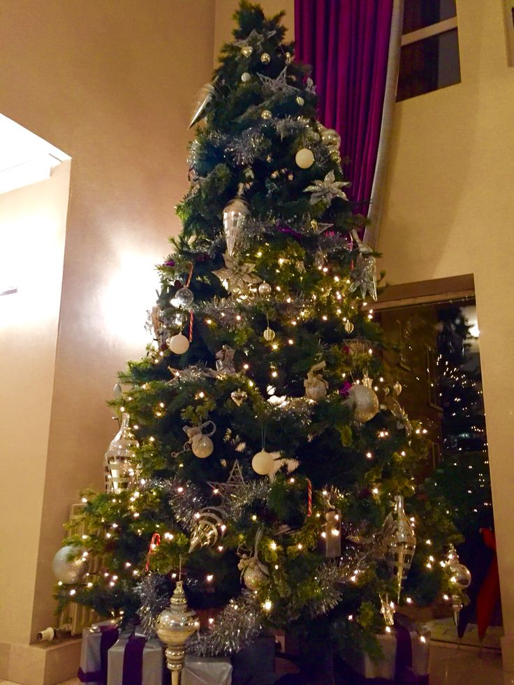 Christmas tree in Wilton Hotel, Bray, County Wicklow