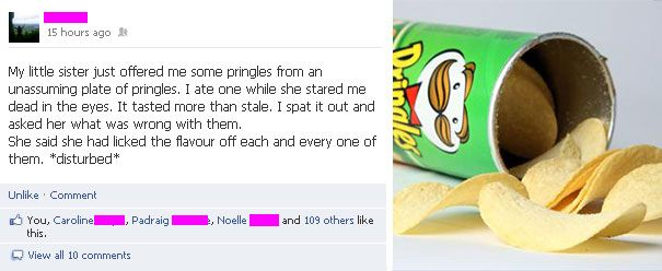 Ruin the flavor of every Pringles piece