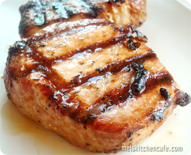Tender Grilled Pork Chops  ~  The pork chops get a marinade bath for a few hours in three simple ingredients and the result is a juicy, flavorful slice of meat that is tender.
