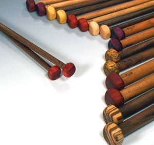 wooden knitting needles, I want some of these!