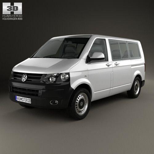Volkswagen Transporter T5 Kombi 2010 | 3D Model