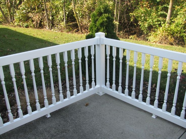how to clean vinyl porch railing