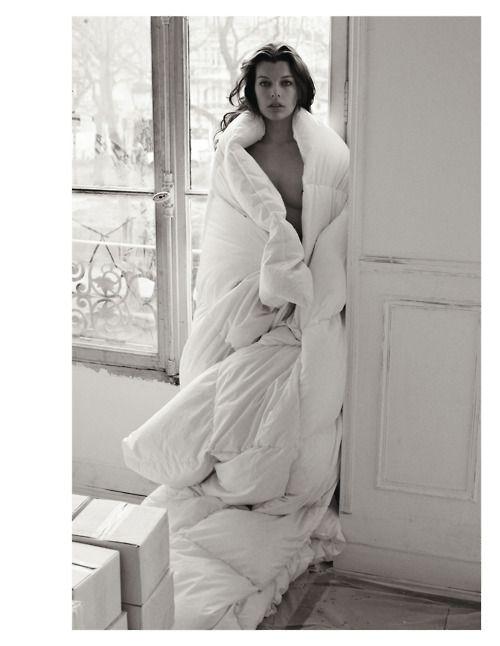 Milla Jovovich by Mario Sorrenti Purple Fashion Magazine Fall/Winter 2009