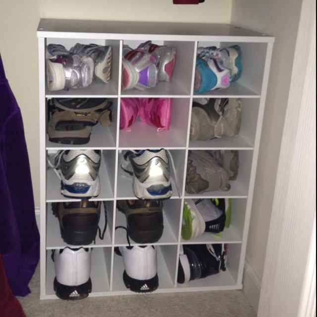 Delightful 15 Shelf Storage From Loweu0027s In Entry Closet For Shoes