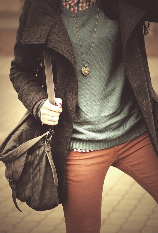 really love a pair of cinnamon color jeans!: Colors Pants, Colors Combos, Fashion, Style, Color Combos, Colors Jeans, Fall Colors, Clothing, Fall Outfits