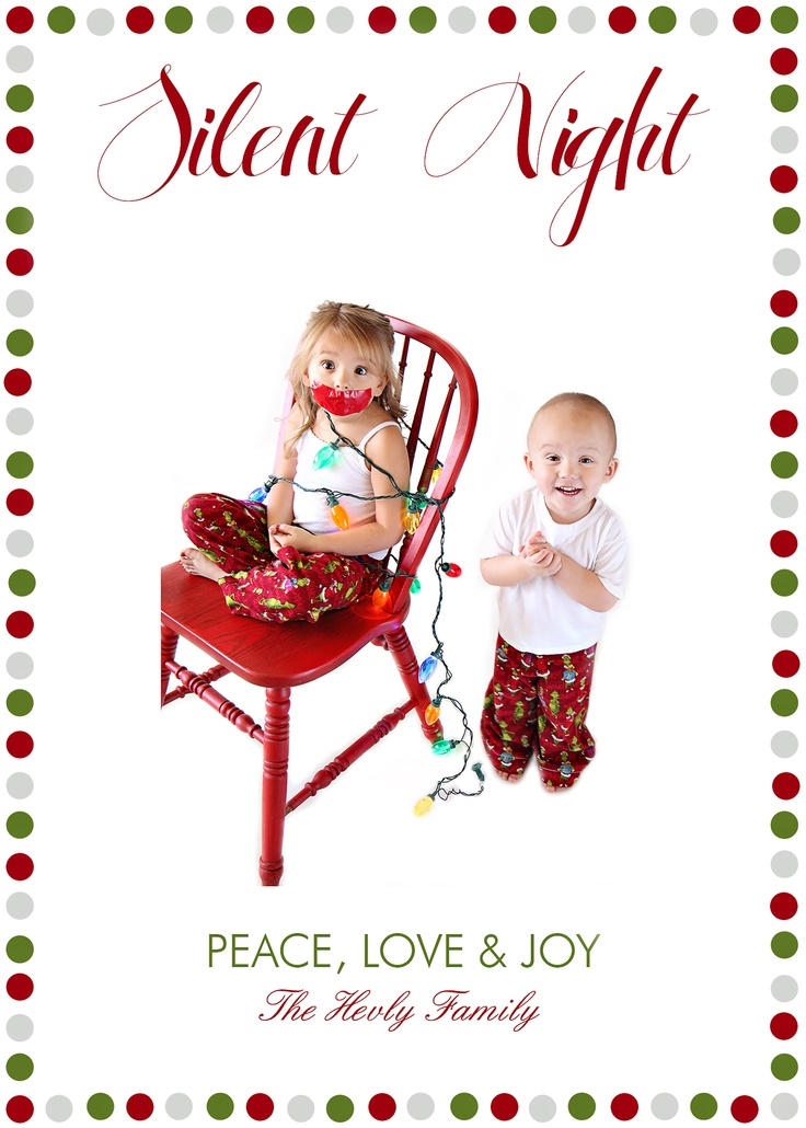 Unique Silent Night Christmas Card Photo Ideas Selection | Photo And ...
