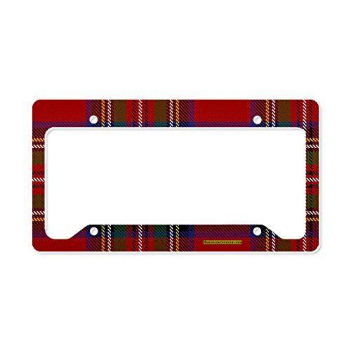 CafePress Stewart Tartan Plaid License Plate Holder License Holder -