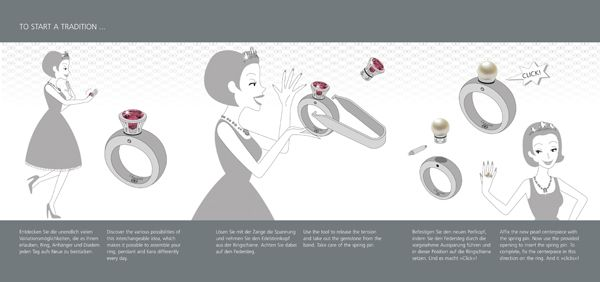 To start a tradition- the technique behind our interchangeable jewelry system- the magic of it!