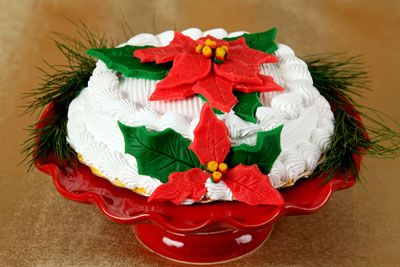 Poinsettia Cake Decorations