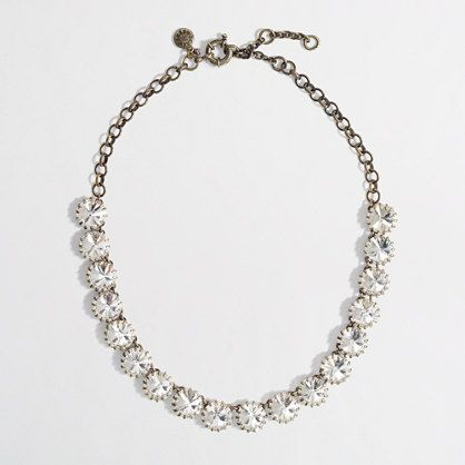 Factory brass-plated crystal necklace - The Sneak Peek Event - FactoryWomen's FactoryWomen_Feature_Assortment - J.Crew Factory
