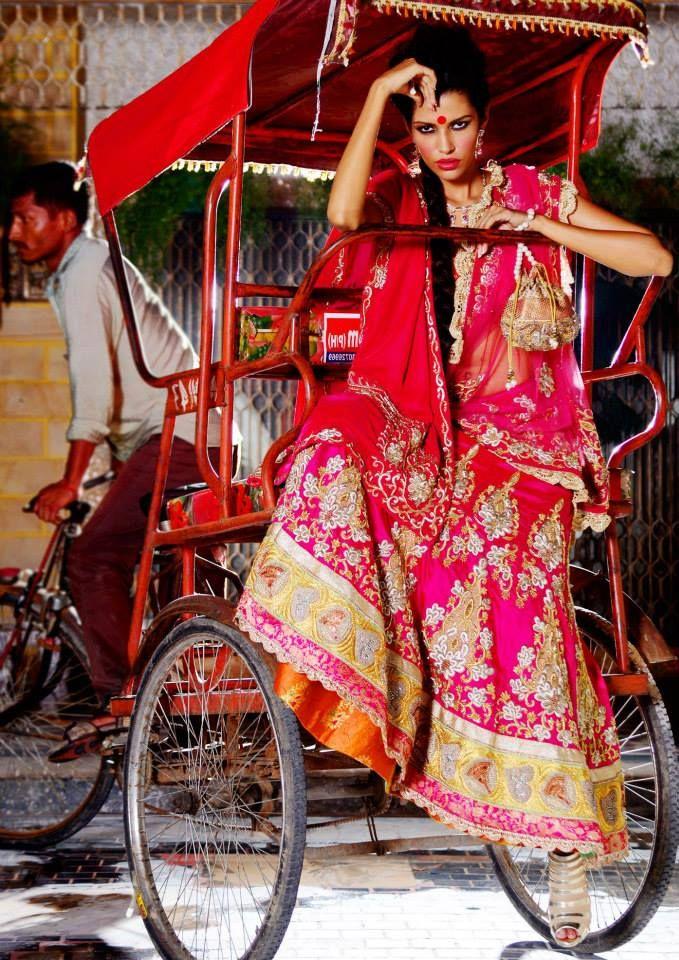 Pink lengha by Nidhi Jain