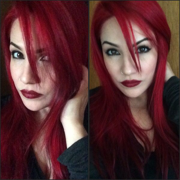 Back to red, which I adore. Used infrared from manic panic this time, I love this deeper red.