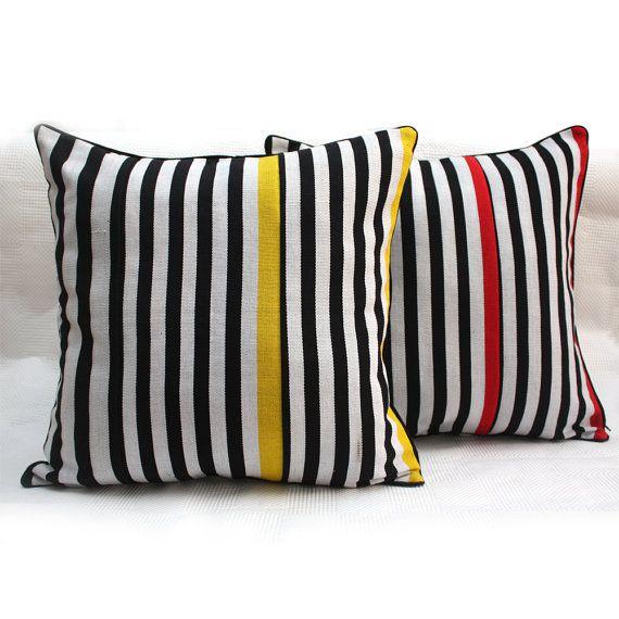 Zebra Pop Aso-oke Cushion Woven African Throw Pillow by Urbanknit