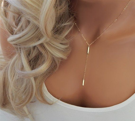 lariat bar necklace bar lariat gift Lariat pearl necklace lariat Y necklace gold bar pearl necklace lariat silver 925 necklace