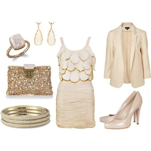 love: Outfits, Fashion, Nude, Style, Clothes, Color, Dress, Gold, Cream