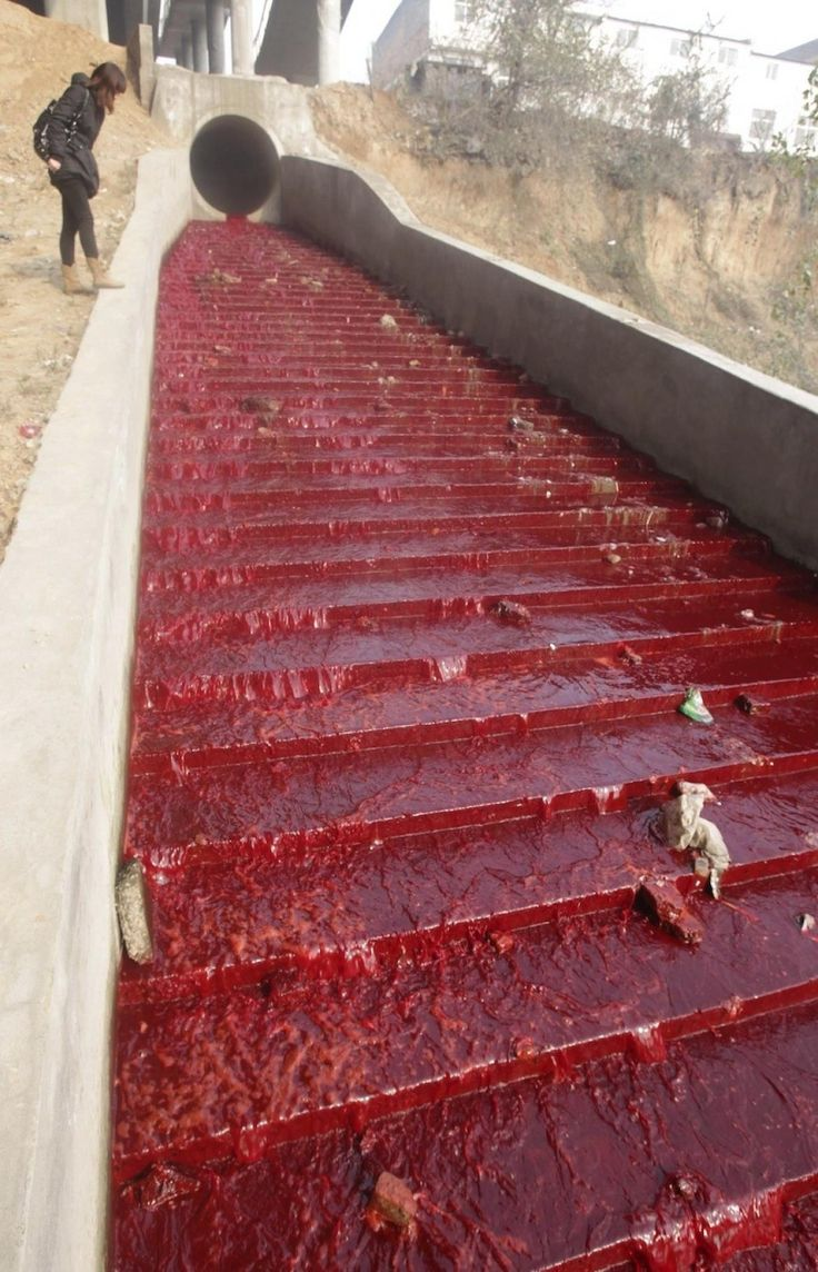 Bodies of Water Become Blood Red, Occurring All Around the World - China  (Revelation 16:4)