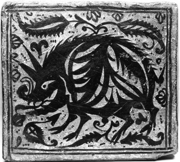 Ceiling Tile (socarrat) with a Boar