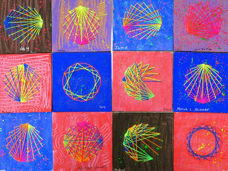 In the Art Room: A String-Stitched Dot for Dot Day!