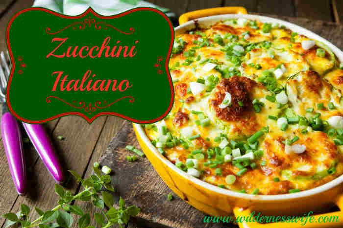 Slow Cooker Zucchini Italiano Casserole Recipe - A great Vegetable Side Dish - The Wilderness Wife - Cooking, crafting & gardening in the North Maine Woods