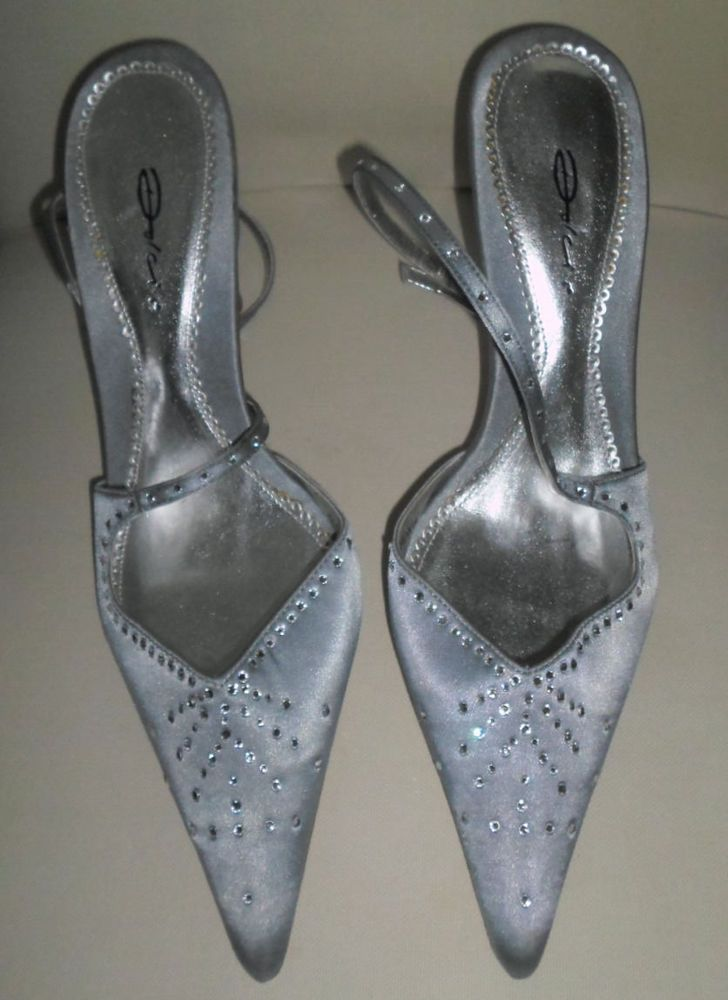 Dolcis ladies Silver kitten heel shoes size 6   SHOES   Pinterest