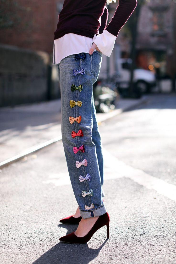 blair-eadie-bow-denim-blog-maroon-pumps - diy inspiration jeans
