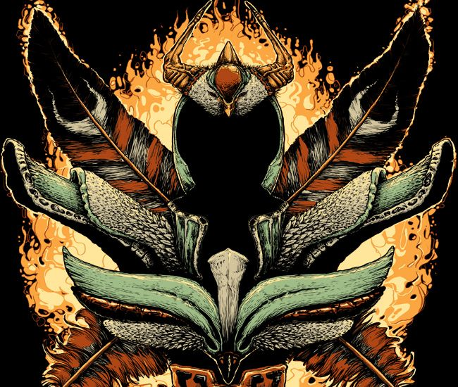 Imagem da ilustração por Rodrigo Gafa - Phoenix (Saint Seiya)