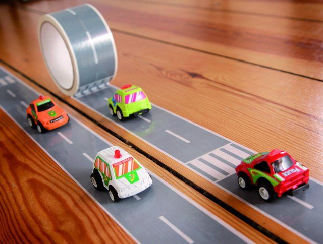 Road tape. : Duct Tape, Gifts Ideas, Ducks Tape, Cars, Toys, Roads Tape, Little Boys, Racing Track, Kid