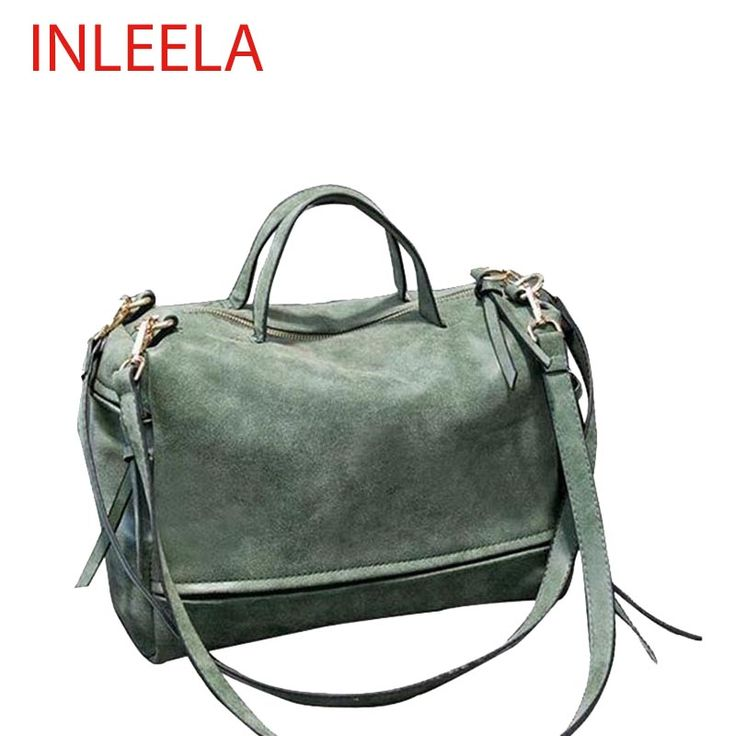 INLEELA Winter-Style Large Women's Frosted Handbag Vintage Women Messenger Bag Moto Bag Fashion Shoulder Bag Lady Crossbody Bag -- Details on product can be viewed by clicking the VISIT button