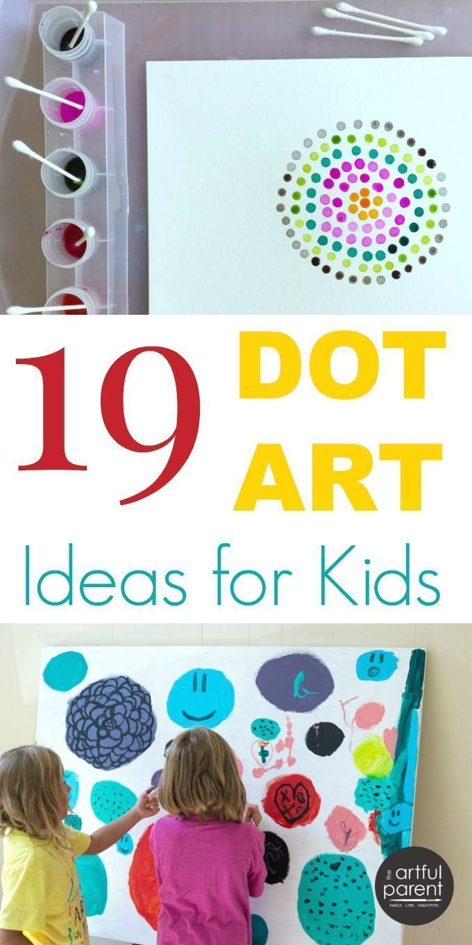 Want some dot art ideas? Whether you've read The Dot, are studying pointillism, or just want to make some fun art with your kids, here are 19 ideas to try.