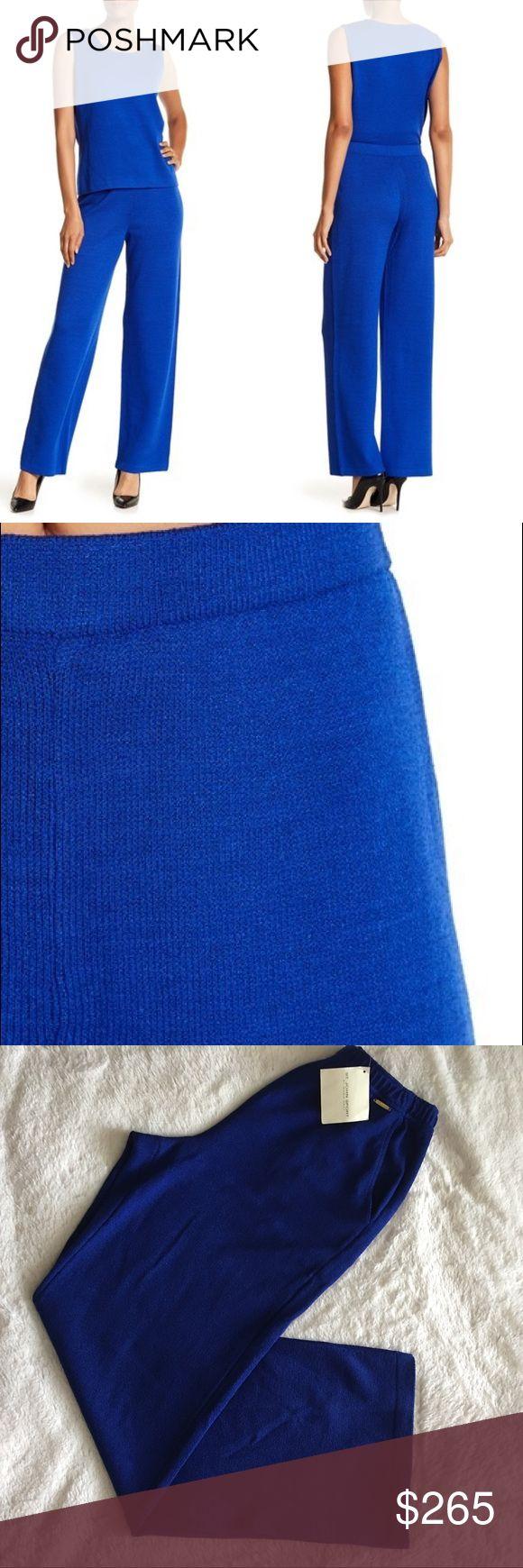 "NWT St. John Collection wide leg wool pants St. John collection wide leg wool pants in the most beautiful cobalt blue. NWT! Would best 25""-26"" waist or size S. St. John Collection Pants"