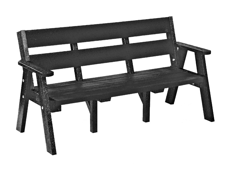 Black Plaswood Bench