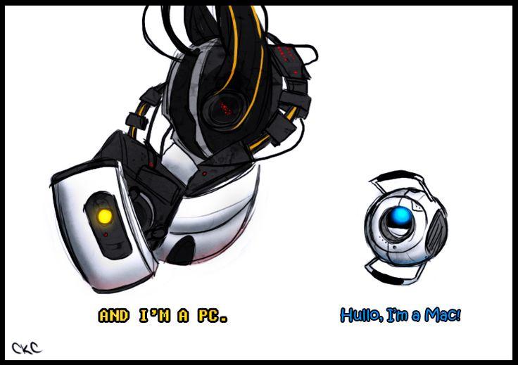 Portal 2 - Mac vs PC by *Inonibird on deviantART