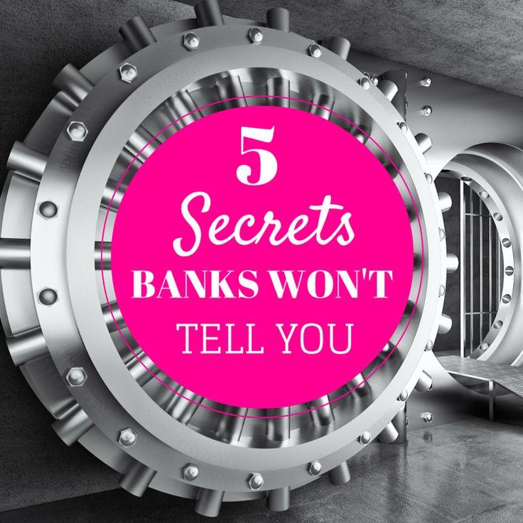5 Secrets Banks Won't Tell You  By Cochrane Financial Advisor, Lisa Elle, Owner of Ellements Group  ellementsgroup.com  Canada