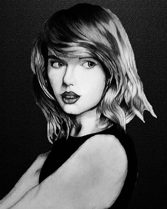 "@TaylorSwift If you liked the picture, do not forget to give a ""like"" and tell me what you thought. You can also follow me #New #Drawing #taylorswift #blackandwhite #society6 #Youtube #Youtuber #drawtubers #blankspace #wildestdreams #Style #Desing #shakeitoff #followme #f4f"