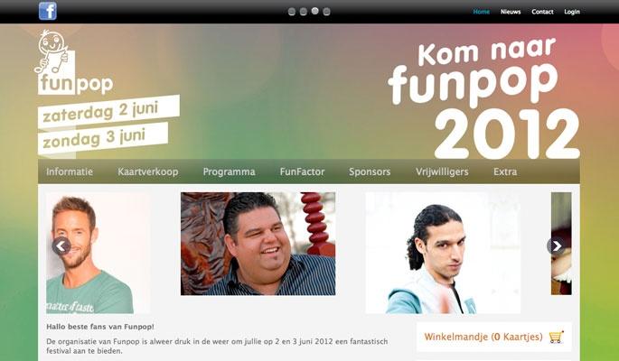 Ontwerp website Funpop