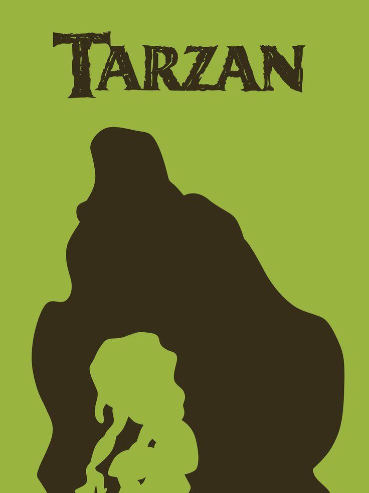 Tarzan minimalist posters of disney films pinterest for Minimal art generator
