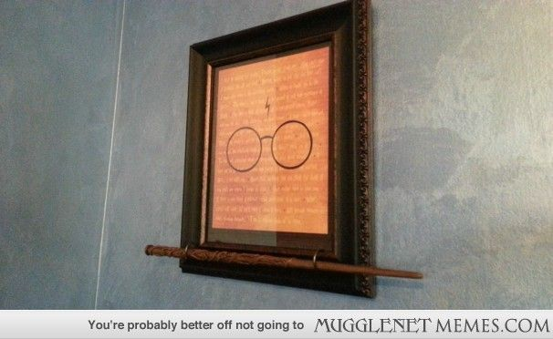 """Put together a display for my Hermione wand"" - this is brilliant, but I'd frame a symbol significant to Hermoine for this. And do this one for Harry's Wand...I think I've stumbled upon an idea."