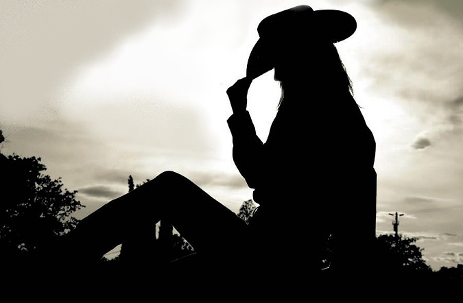 cowgirl silhouette sihouette