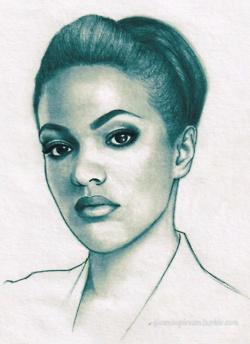 Unit!Martha Jones as drawn by gleamingdream.tumblr.com