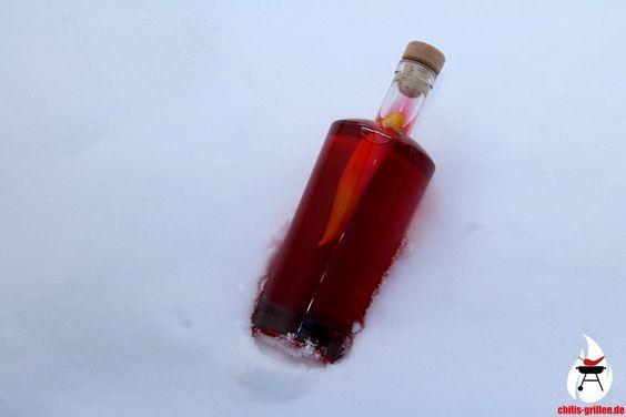 Scharfer Himbeer-Wodka