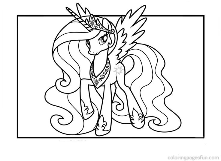 2013 Princess Celestia Coloring Pages  Articulation ...