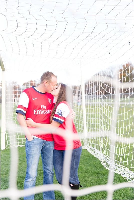 Soccer Engagement Session :) photo by Sami Renee Photography // Cleveland Wedding & Family Photographer