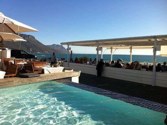 Restaurant with a view... The Bungalow, Clifton, Cape Town.