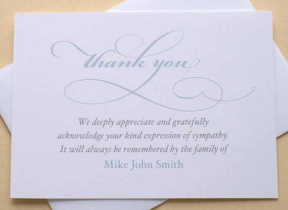 79 Best Sympathy Thank You Cards Images On Pinterest | Card Stock