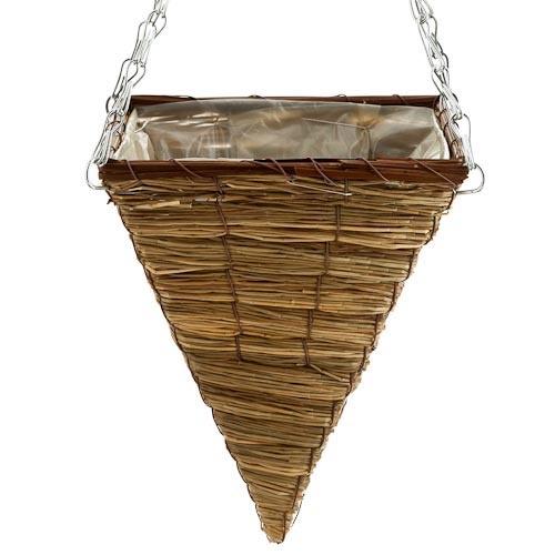 Seagrass Cone Hanging Basket | Poundland