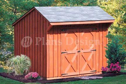 6 X 8 Saltbox Shed From Www Plansd Com Saltbox Storage