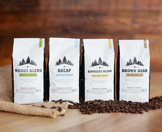 Woods Coffee. Roast the wood out of it. #packaging (More design inspiration at www.aldenchong.com)