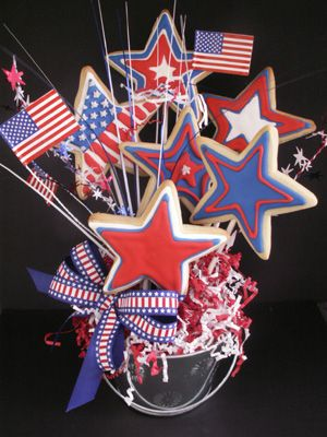 Delicious Star Sugar Cookies make a great 4th of July display for your next Great American Celebration!