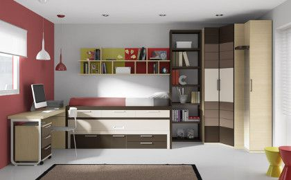 Dormitorios 420 260 habitaciones ni o for Habitaciones juveniles funcionales